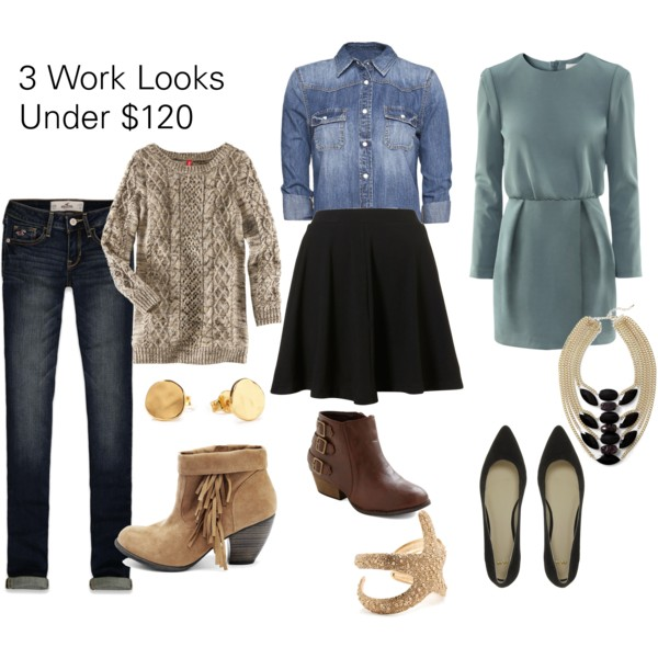 3 Work looks Under $130