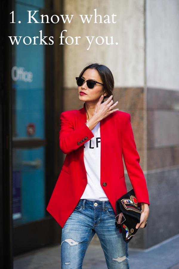 red, blazer